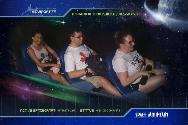 Space Mountain Ride 1