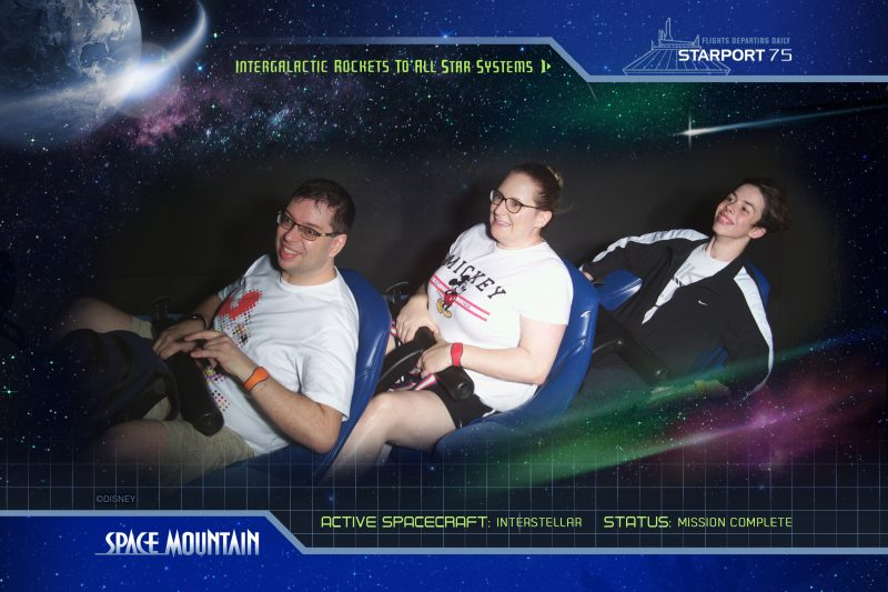 Space Mountain Ride 2