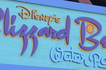 Blizzard Beach Park Sign Banner